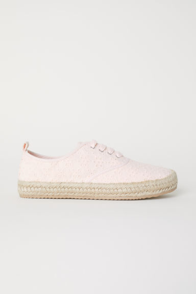 Espadrilles - Light pink/Broderie anglaise - Ladies | H&M CN
