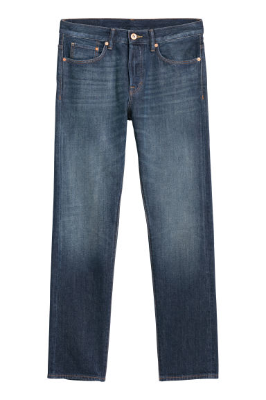 Straight Jeans - Dark denim blue - Men | H&M