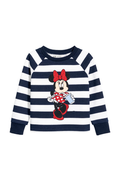 Printed sweatshirt - Dark blue/Minnie Mouse -  | H&M CN