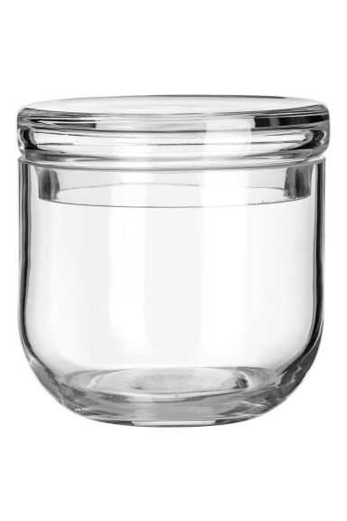 Pot en verre avec couvercle - Verre transparent - Home All | H&M CA