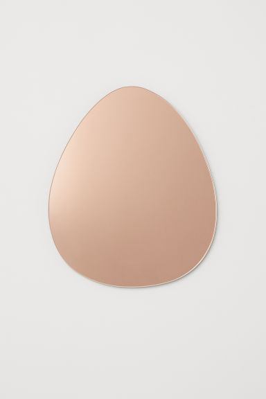 Tear-shaped mirror - Rose gold-coloured - Home All | H&M CN