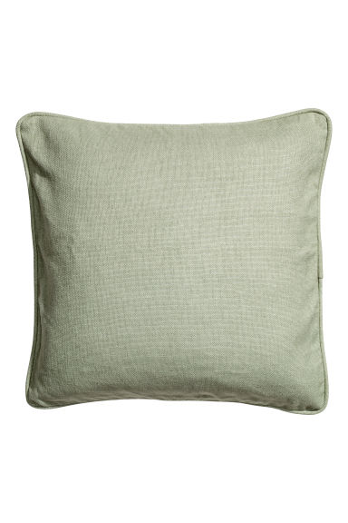 Cushion cover with piping - Dusky green - Home All | H&M GB