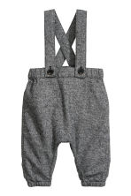 Bodysuit and dungarees - White/Grey - Kids | H&M CN 3