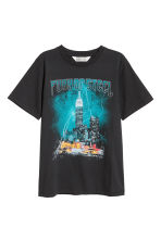 Printed T-shirt - Black -  | H&M CN 2