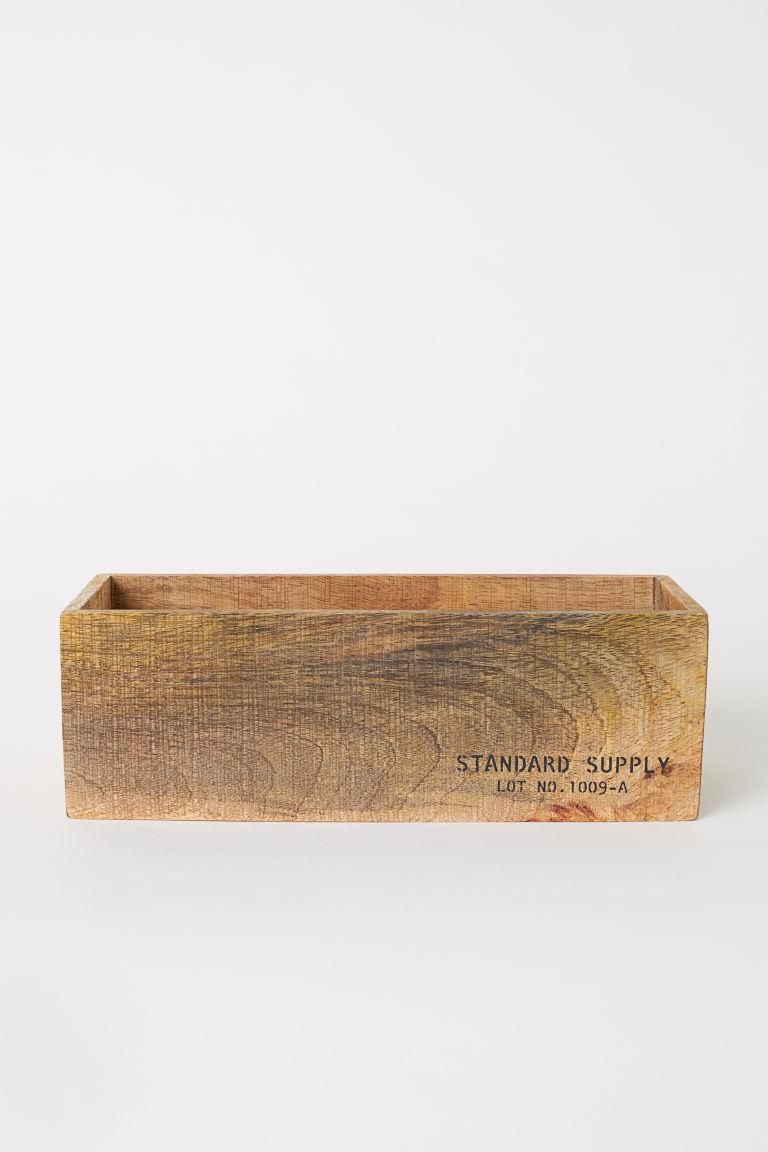 Kleine houten opbergbak - Licht hout - HOME | H&M NL 2