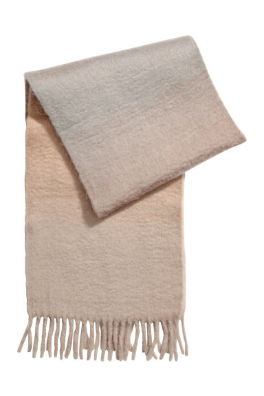 Woven scarf - Mole/Light blue - Ladies | H&M CN 1