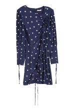 Dress with a drawstring - Blue/White spotted - Ladies | H&M 2