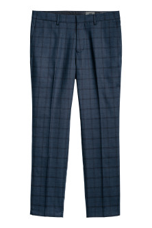 Checked Suit Pants Slim fit