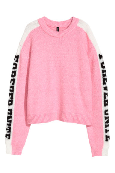 Knitted jumper - Pink - Ladies | H&M