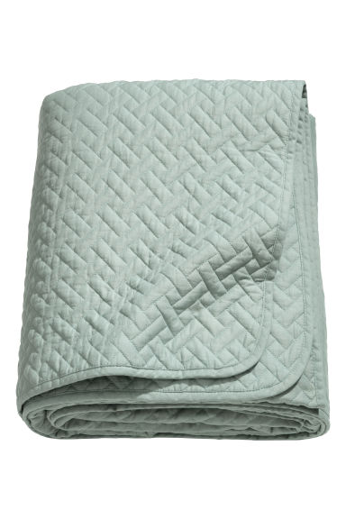 Quilted bedspread single - Light green - Home All | H&M CN 1
