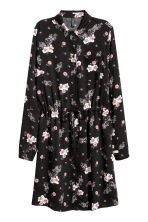 Shirt dress - Black/Floral - Ladies | H&M IE 2