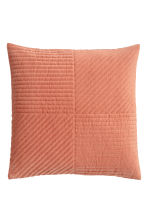 Quilted velvet cushion cover - Coral - Home All | H&M GB 1