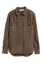 Lyocell utility shirt - Khaki green - Ladies | H&M 2