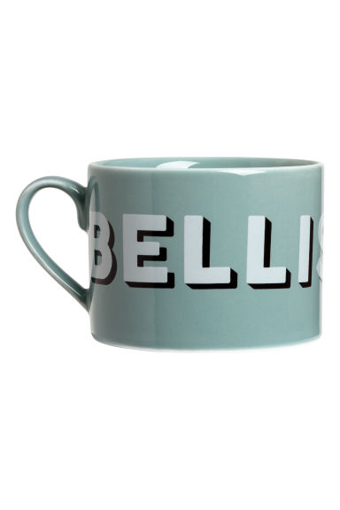 Porcelain cup with a motif - Turquoise/Bellissima - Home All | H&M CN