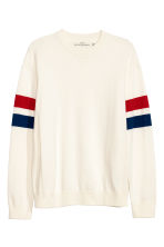 Knitted cotton jumper - Natural white - Men | H&M CN 2