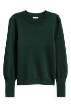 Fine-knit jumper - Dark green - Ladies | H&M IE 2