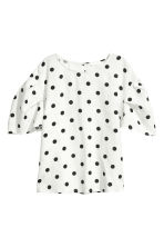 Blouse - White/Spotted - Ladies | H&M 2