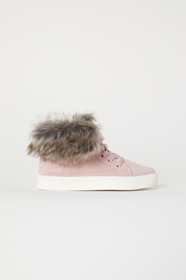 Warm-lined hi-tops - Powder pink - Kids | H&M CN