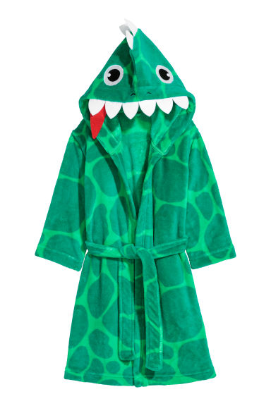 Bademantel aus Fleece - Grün/Drache - KINDER | H&M CH 1