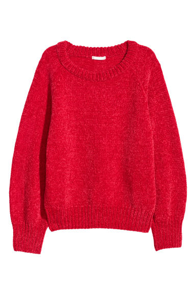 Knitted jumper - Red - Ladies | H&M CN