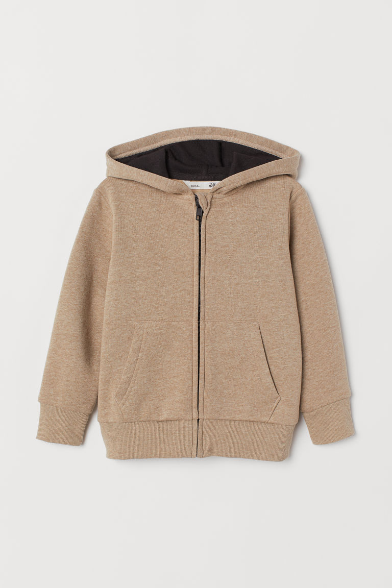 Hooded jacket - Beige marl -  | H&M GB