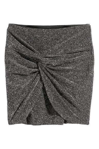 Glittery skirt - Black/Glittery - Ladies | H&M CN