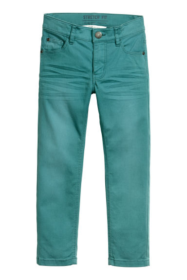 Pantalon stretch - Pétrole -  | H&M FR
