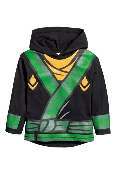 Jersey hooded top - Black/Lego - Kids | H&M