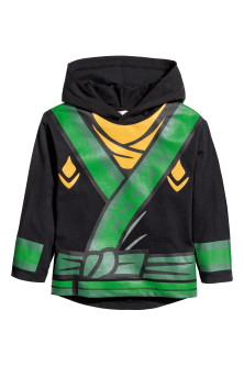 Jersey hooded top