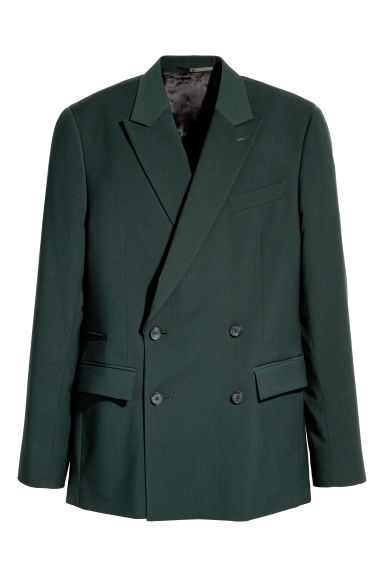 Double-breasted jacket - Dark green - Men | H&M