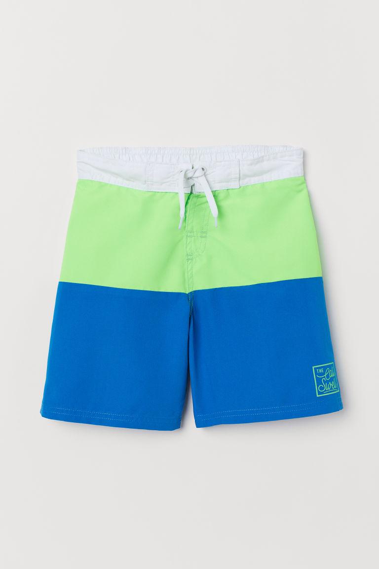 Swim shorts - Blue/Neon green - Kids | H&M GB