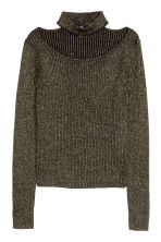 Glittery jumper - Black/Gold-coloured - Ladies | H&M 1