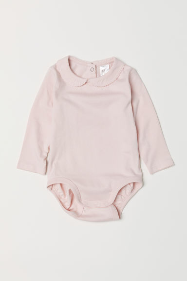 Bodysuit with a collar - Light pink - Kids | H&M CN