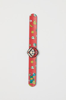 Patterned snap-on bracelet