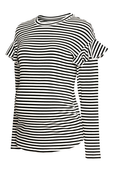 MAMA Jersey top - White/Black striped -  | H&M GB