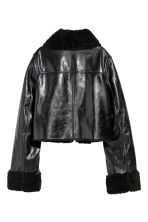 Leather biker jacket - Black - Ladies | H&M 3