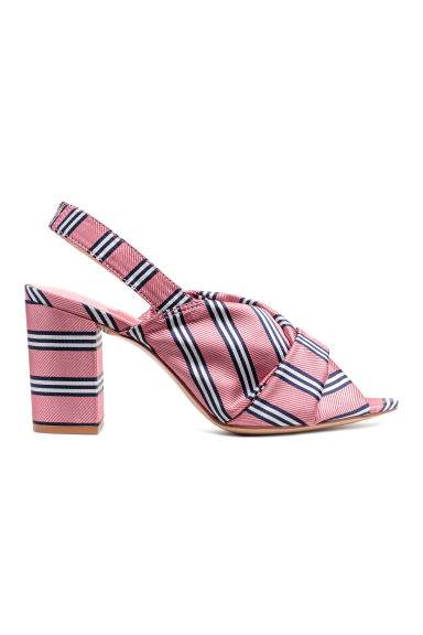 Satin sandals - Pink/Striped -  | H&M US