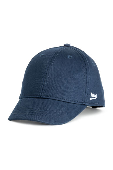 Cotton cap - Dark blue - Kids | H&M GB