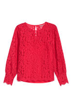 H&M+ Lace blouse - Bright red - Ladies | H&M CN 2
