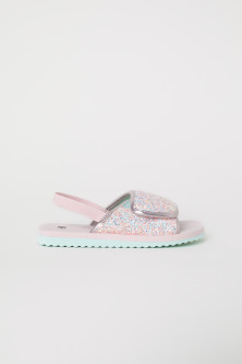 Glittery pool shoes