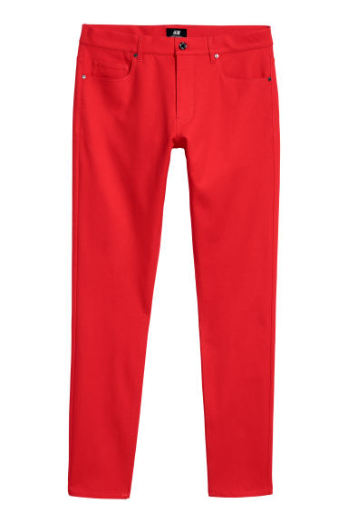Trousers Super Skinny Fit - Bright red - Men | H&M CN