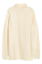 Cable-knit jumper - Natural white - Ladies | H&M 2