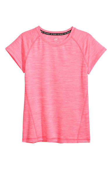 Short-sleeved sports top - Neon pink - Kids | H&M