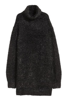 Knitted polo-neck dress