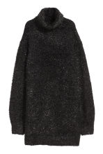 Knitted polo-neck dress - Black - Ladies | H&M 2