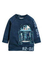 Printed sweatshirt - Dark blue/Star Wars - Kids | H&M CN 1