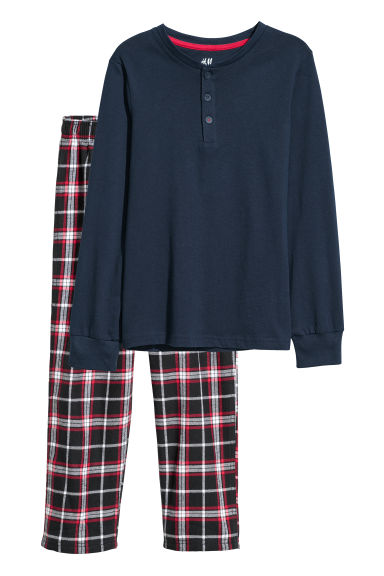 Pyjamas - Dark blue -  | H&M CN