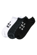 3-pack sports socks - Dark grey - Ladies | H&M CN 1