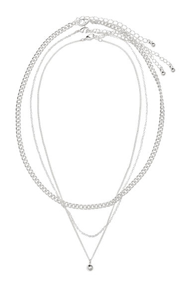 3-pack necklaces - Silver-coloured -  | H&M