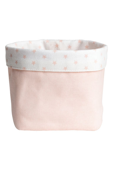 Small canvas storage basket - Powder pink/Stars - Home All | H&M IE